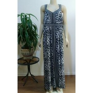 Apt 9 Gray Leopard Plus Size Sleeveless Maxi Dress